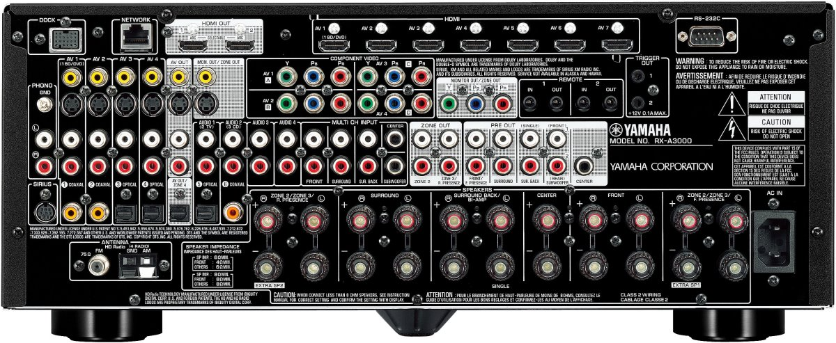 Yamaha rx a3000 hi fi database av amplifiers for Yamaha aventage rx a3000