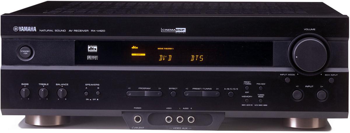 Yamaha rx v420 receiver av amplifier ebay for Yamaha amplifier receiver