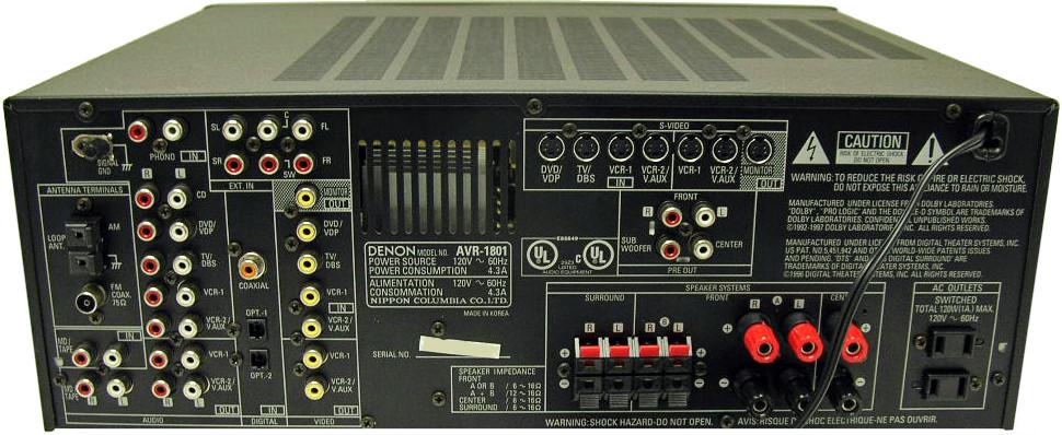 denon avr 1801 hi fi database mobile av amplifiers rh m hifidatabase com Denon AVR- 1610 Denon AVR 1801 Specs