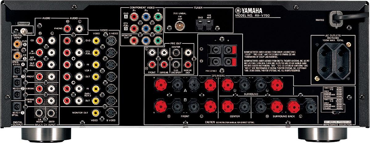 Yamaha Rx V Size
